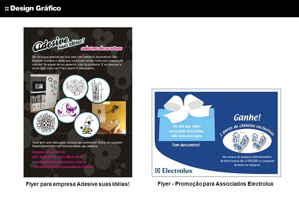 Flyer - Promoção para Associados Electrolux Flyer para empresa Adesive suas Idéias!
