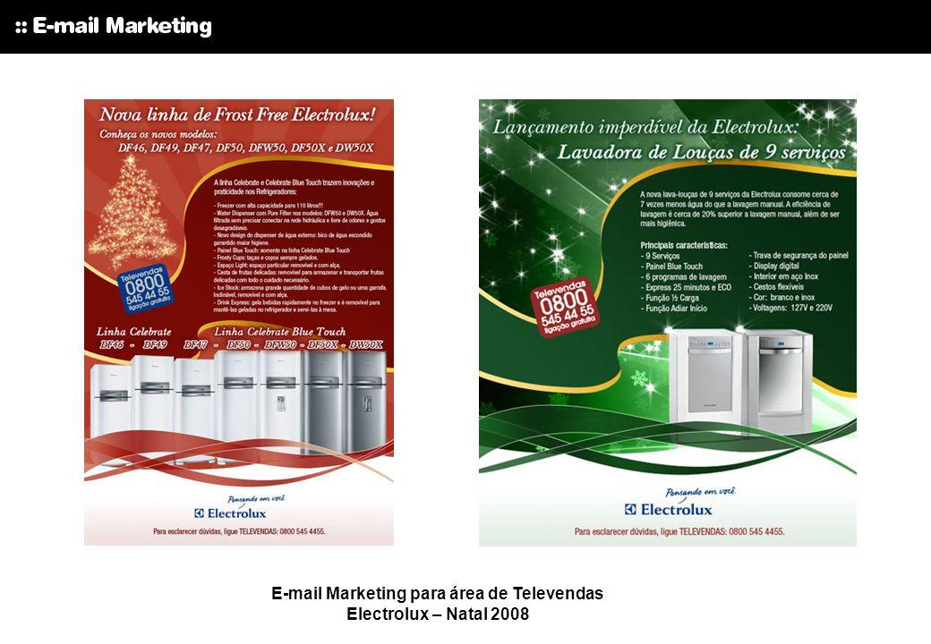 E-mail Marketing Electrolux – Promoção pós- carnaval para Quem Indica amigo é.