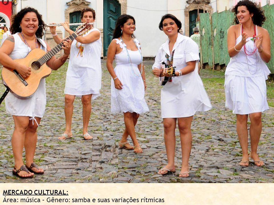 MERCADO CULTURAL: Área: música – Gênero: samba e suas variações rítmicas