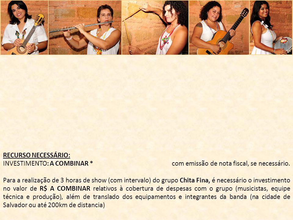Janaina Costa Produção Executiva 71 88329352 (OI) - 71 9326-6708 (TIM) www.chitafina.com.br FAN PAGE - FACEBOOK https://www.facebook.com/pages/Chita- Fina/141103752666874?fref=ts