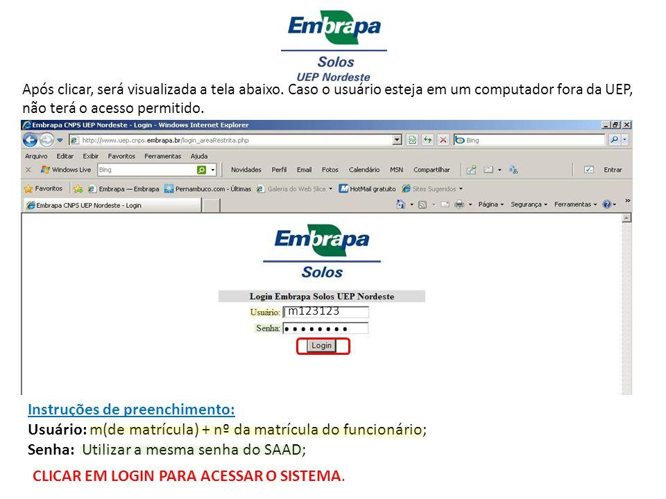 O funcionário que não possuir a senha de acesso deverá proceder da seguinte forma: 1) Acessar a página da Embrapa: www.embrapa.br 2) Clicar em Área Restrita, conforme abaixo :www.embrapa.br