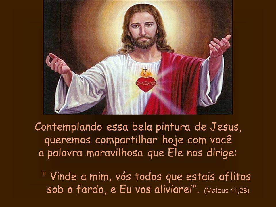 Meu irmão, minha irmã, você sabia que uma santa, Margarida Maria, foi agraciada com a visão de Jesus assim?.... Veja... Se numa pintura O vemos tão li