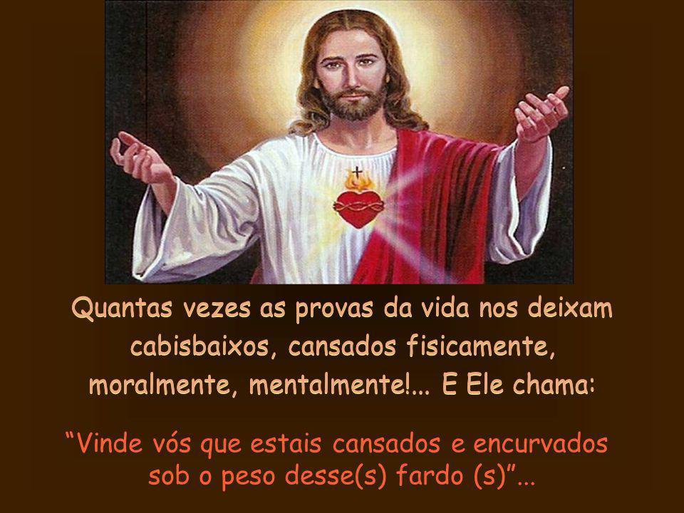 Quem ouvir o Seu chamado: Vinde a mim... e aceitar o Seu socorro, recebe a Sua promessa também: Eu vos aliviarei!