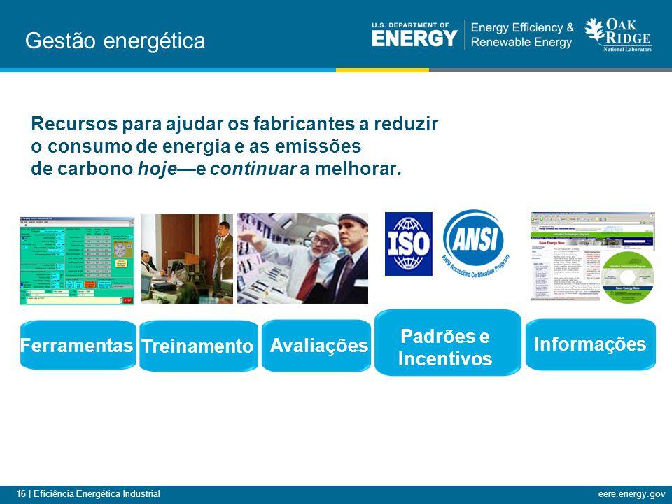 16 | Eficiência Energética Industrialeere.energy.gov Ferramentas Treinamento Avaliações Informações Recursos para ajudar os fabricantes a reduzir o co