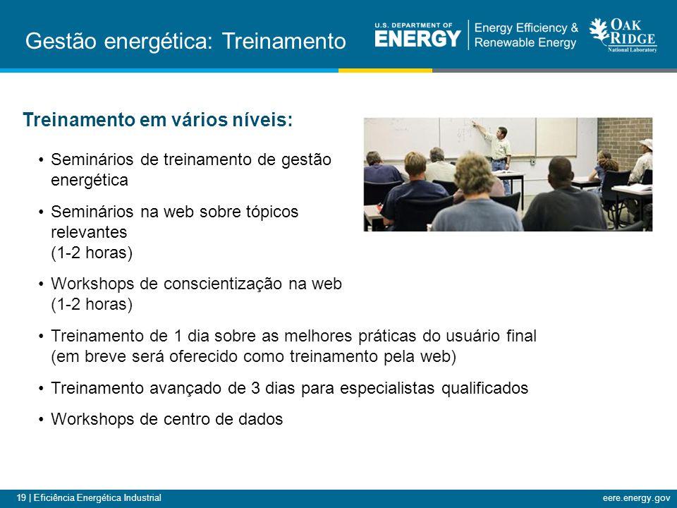 19 | Eficiência Energética Industrialeere.energy.gov Treinamento em vários níveis: Seminários de treinamento de gestão energética Seminários na web so