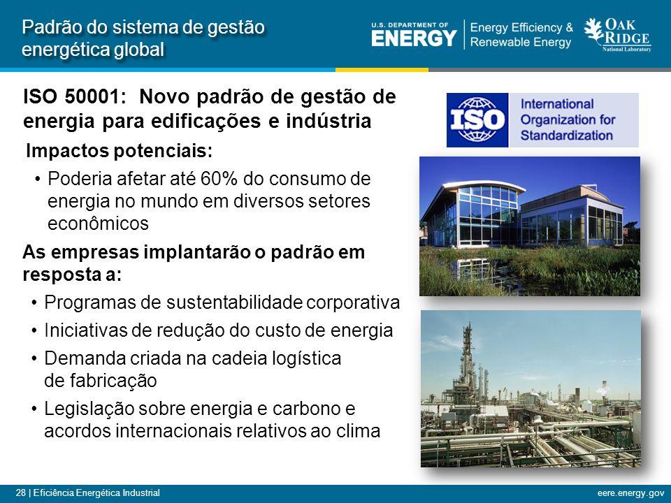 28 | Eficiência Energética Industrialeere.energy.gov Padrão do sistema de gestão energética global ISO 50001: Novo padrão de gestão de energia para ed
