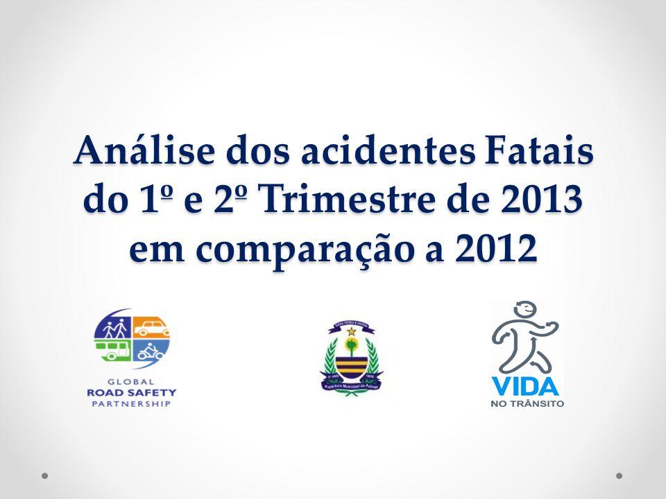Análise dos acidentes Fatais do 1º e 2º Trimestre de 2013 em comparação a 2012