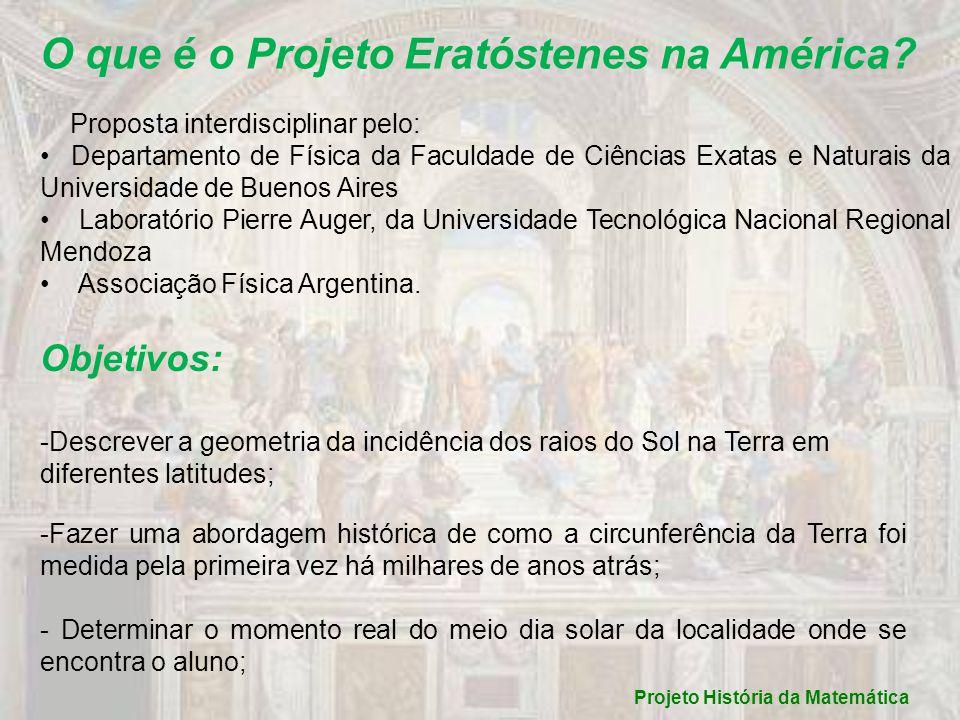 Batatais, São Paulo Projeto História da Matemática