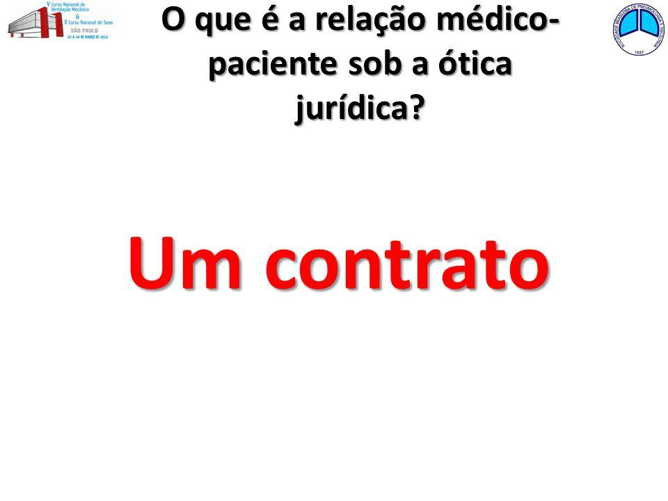 O que é a relação médico- paciente sob a ótica jurídica? Um contrato