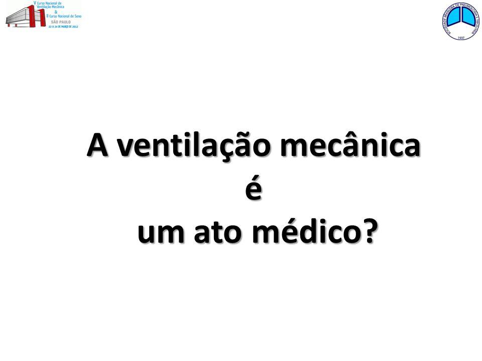 A ventilação mecânica é um ato médico?