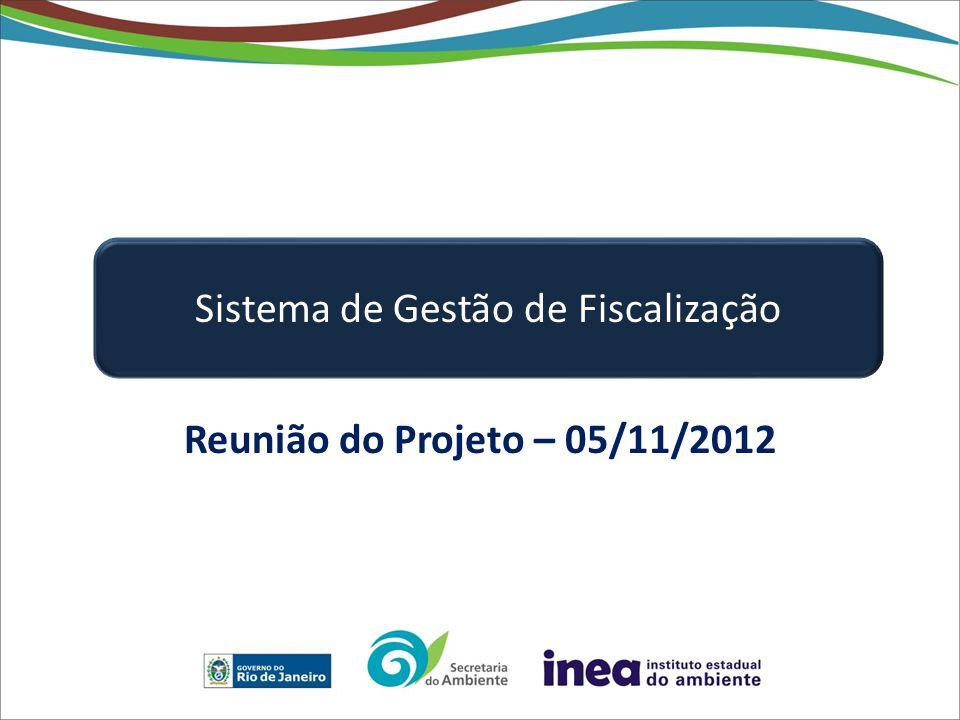 Reunião do Projeto – 05/11/2012 Sistema de Gestão de Fiscalização