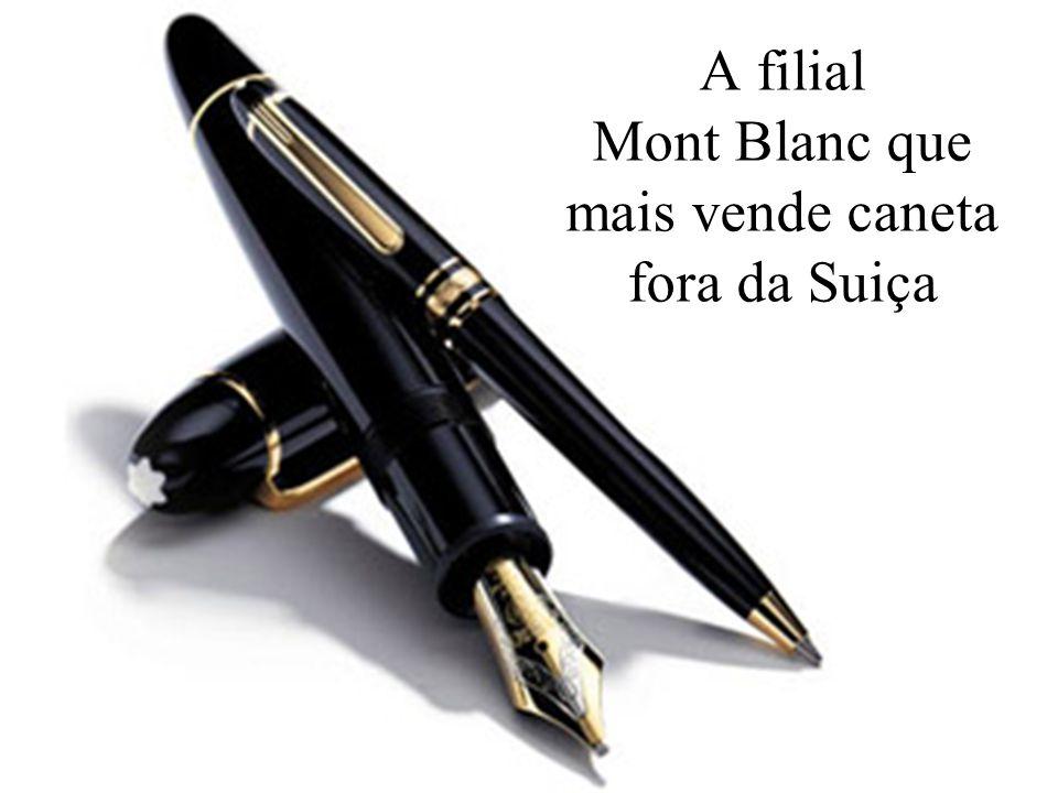 Levantamento Preparado por Harold McCardell - Consultor Financeiro - L L A I N V E S T I M E N T O S - t: (11) 3095-7073 | c: (11) 9982-0573 - f: (11) 3095-7071 - www.lla.com.br A filial Mont Blanc que mais vende caneta fora da Suiça