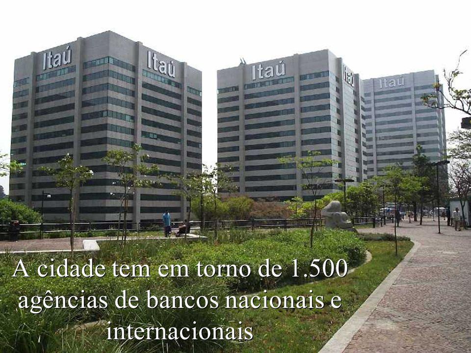 Levantamento Preparado por Harold McCardell - Consultor Financeiro - L L A I N V E S T I M E N T O S - t: (11) 3095-7073 | c: (11) 9982-0573 - f: (11) 3095-7071 - www.lla.com.br A cidade tem em torno de 1.500 agências de bancos nacionais e internacionais