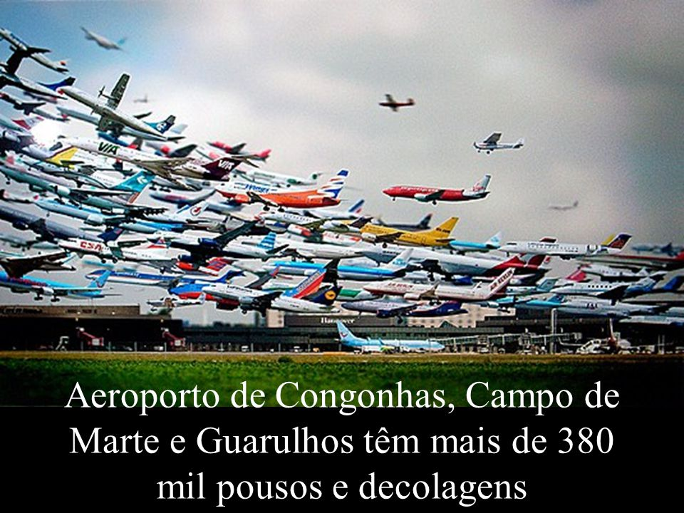 Levantamento Preparado por Harold McCardell - Consultor Financeiro - L L A I N V E S T I M E N T O S - t: (11) 3095-7073 | c: (11) 9982-0573 - f: (11) 3095-7071 - www.lla.com.br Aeroporto de Congonhas, Campo de Marte e Guarulhos têm mais de 380 mil pousos e decolagens