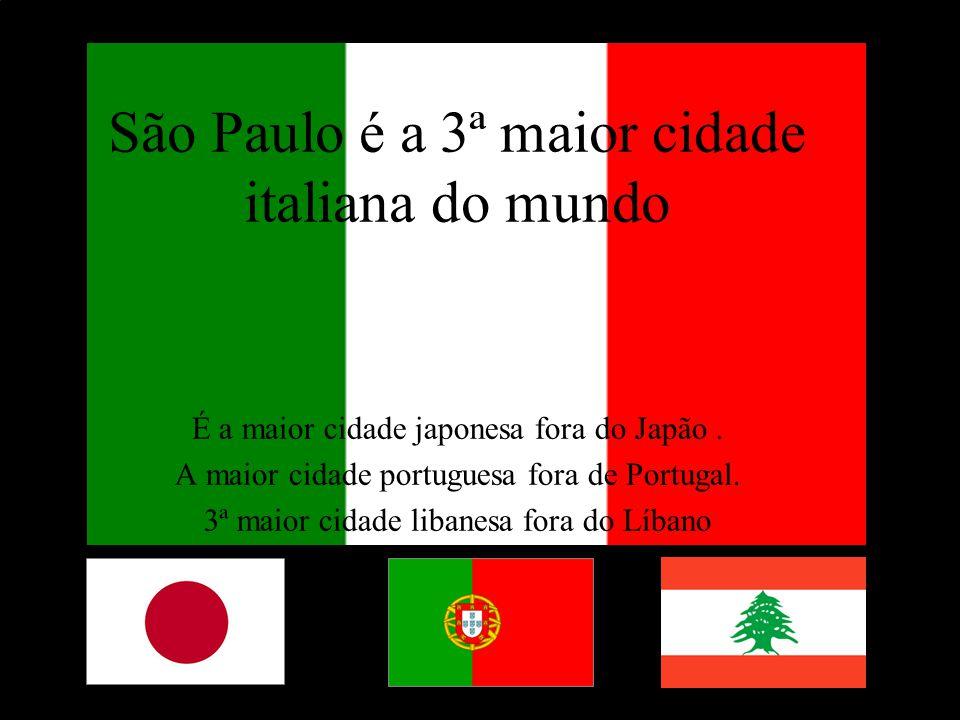 Levantamento Preparado por Harold McCardell - Consultor Financeiro - L L A I N V E S T I M E N T O S - t: (11) 3095-7073 | c: (11) 9982-0573 - f: (11) 3095-7071 - www.lla.com.br São Paulo é a 3ª maior cidade italiana do mundo É a maior cidade japonesa fora do Japão.