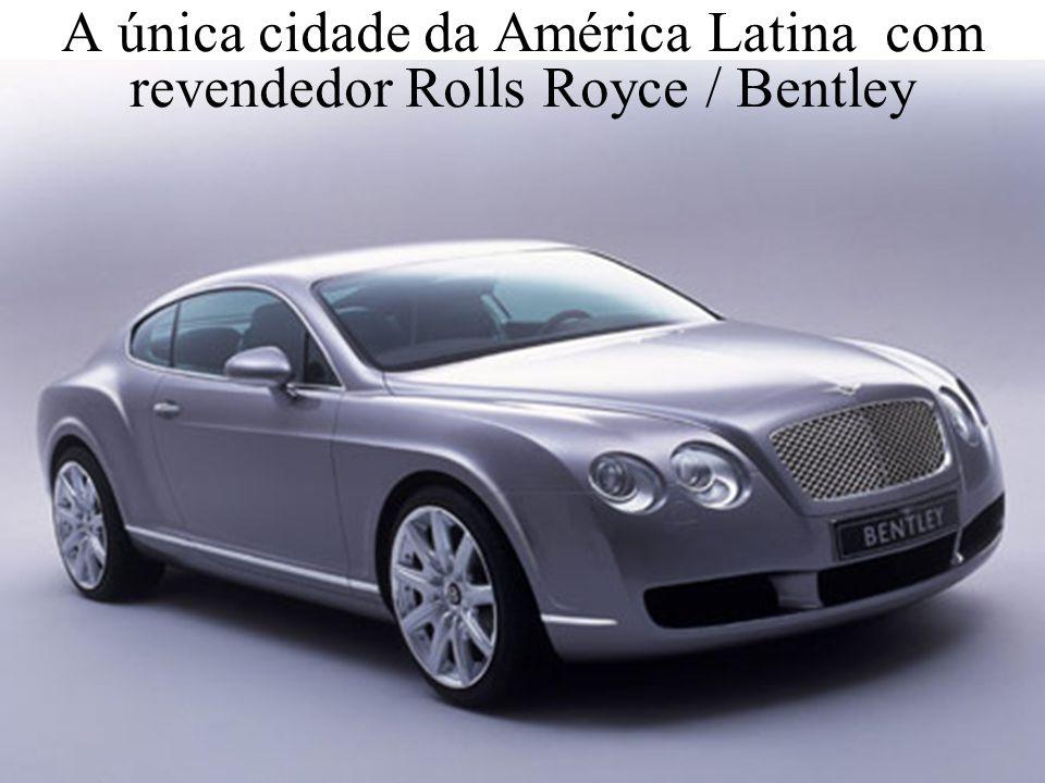 Levantamento Preparado por Harold McCardell - Consultor Financeiro - L L A I N V E S T I M E N T O S - t: (11) 3095-7073 | c: (11) 9982-0573 - f: (11) 3095-7071 - www.lla.com.br A única cidade da América Latina com revendedor Rolls Royce / Bentley