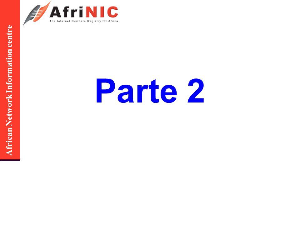 African Network Information centre Interrelação entre objectos inetnum: 41.0.0.0 – 41.31.255.255 … admin-c: JH2-AFRINIC tech-c: DE3-AFRINIC … mnt-by: ABC-DE-MNT … Endereços IPv4 person: … nic-hdl: DE3-AFRINIC … Informação de contacto person: … nic-hdl: JH2-AFRINIC … Contact info mntner: ABC-DE-MNT… Protecção de dados