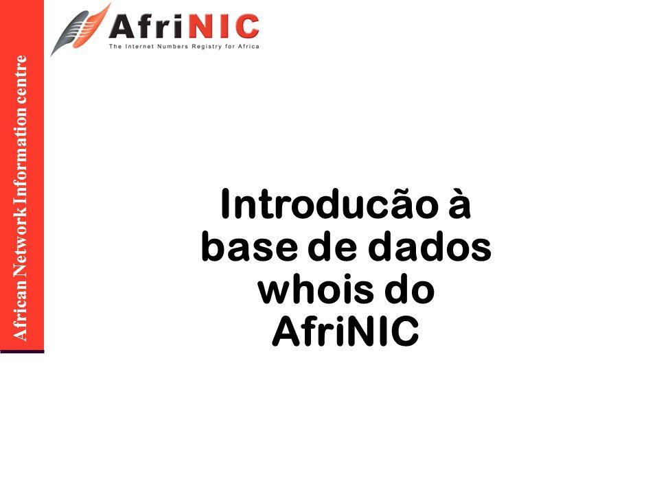 African Network Information centre QUESTÕES