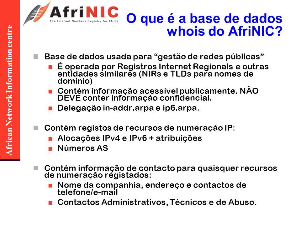 African Network Information centre Obter um ASN Critérios: É necessário ser um membro do AfriNIC, É necessário estar a planear ser «multi-homed».