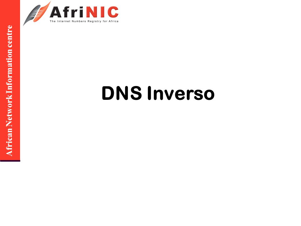 African Network Information centre DNS Inverso