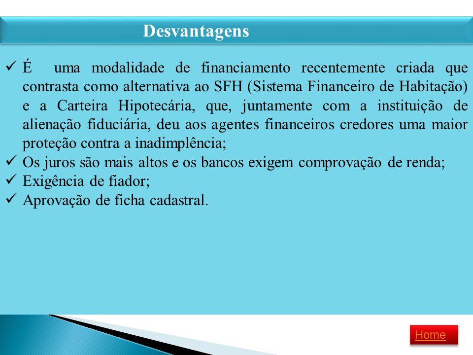 É uma modalidade de financiamento recentemente criada que contrasta como alternativa ao SFH (Sistema Financeiro de Habitação) e a Carteira Hipotecária