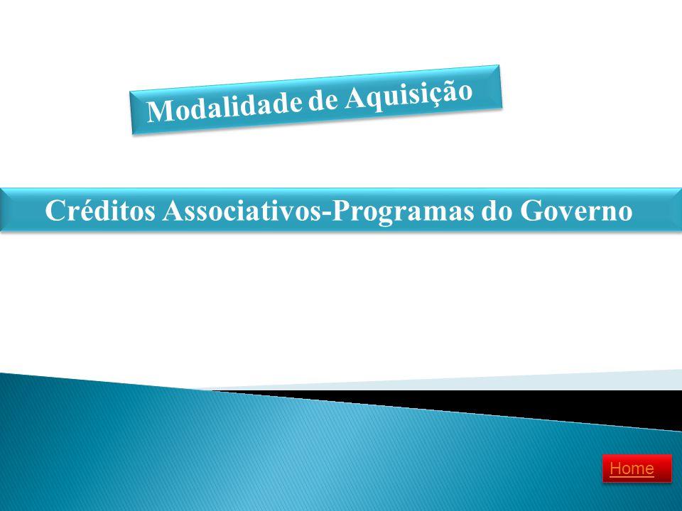 Modalidade de Aquisição Créditos Associativos-Programas do Governo Home
