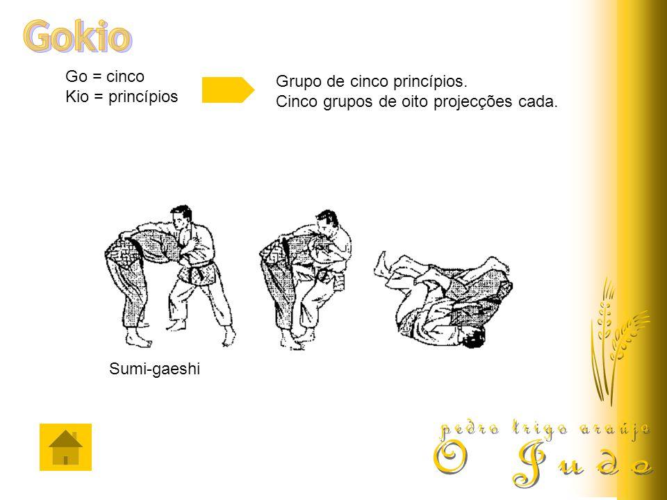 Go = cinco Kio = princípios Grupo de cinco princípios. Cinco grupos de oito projecções cada. Sumi-gaeshi