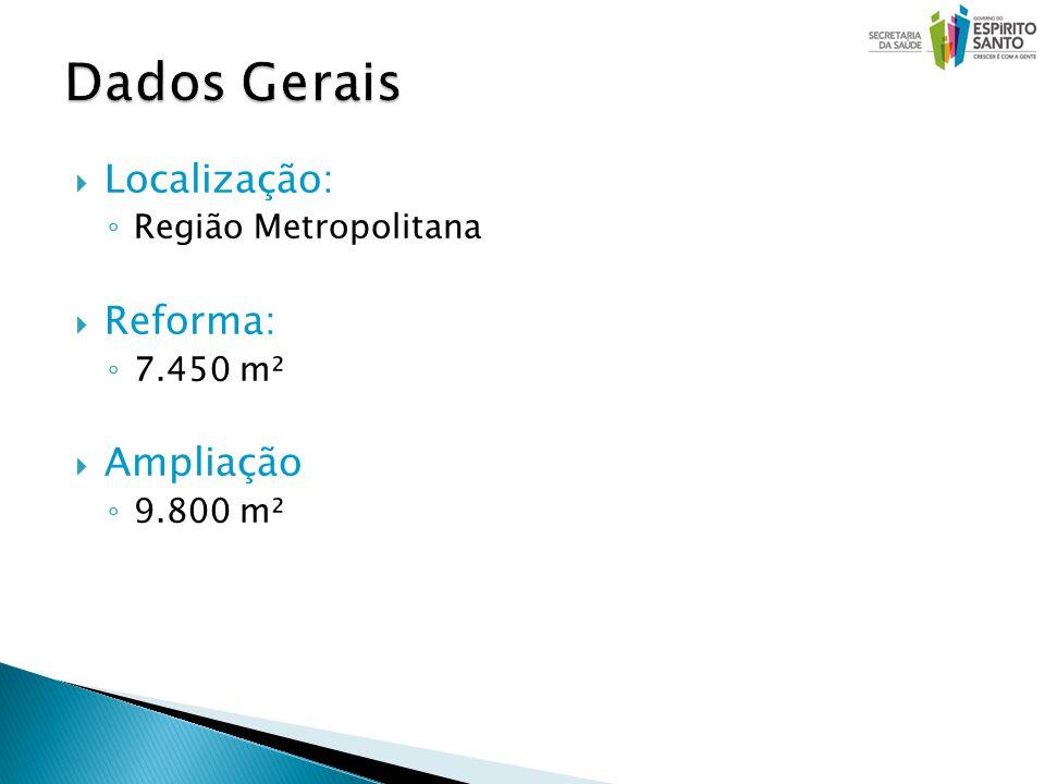 Localização: Região Metropolitana Reforma: 7.450 m² Ampliação 9.800 m²
