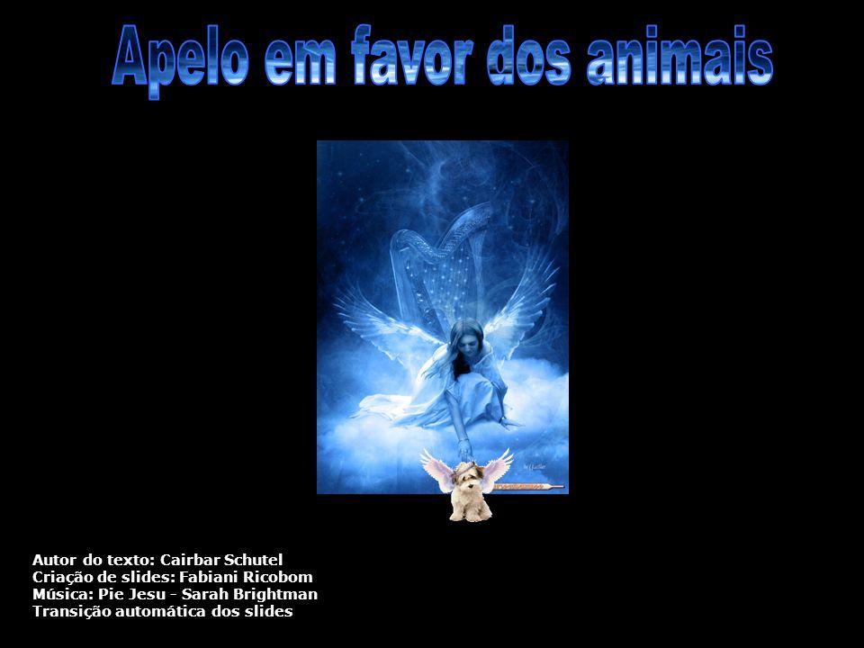 Autor do texto: Cairbar Schutel Criação de slides: Fabiani Ricobom Música: Pie Jesu - Sarah Brightman Transição automática dos slides
