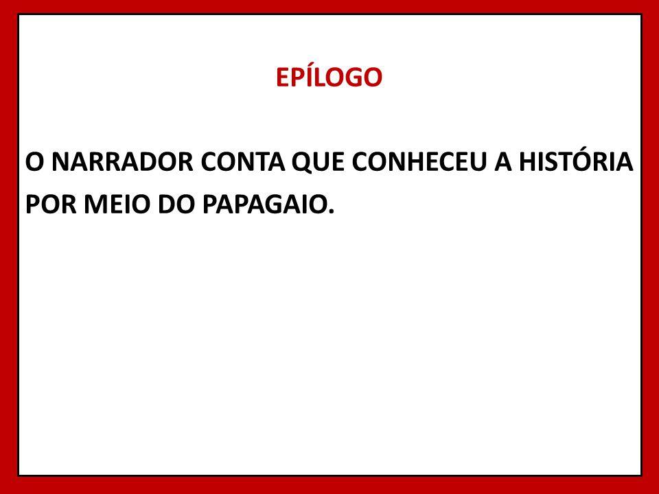 EPÍLOGO O NARRADOR CONTA QUE CONHECEU A HISTÓRIA POR MEIO DO PAPAGAIO.