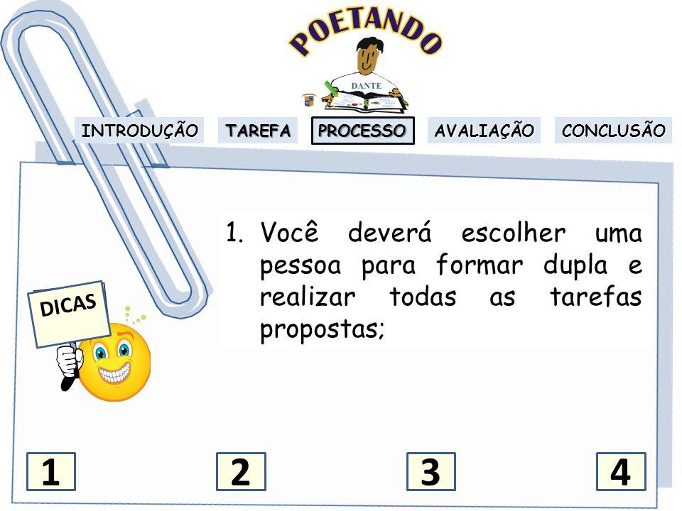INTRODUÇÃO TAREFA PROCESSO AVALIAÇÃO CONCLUSÃO 2.