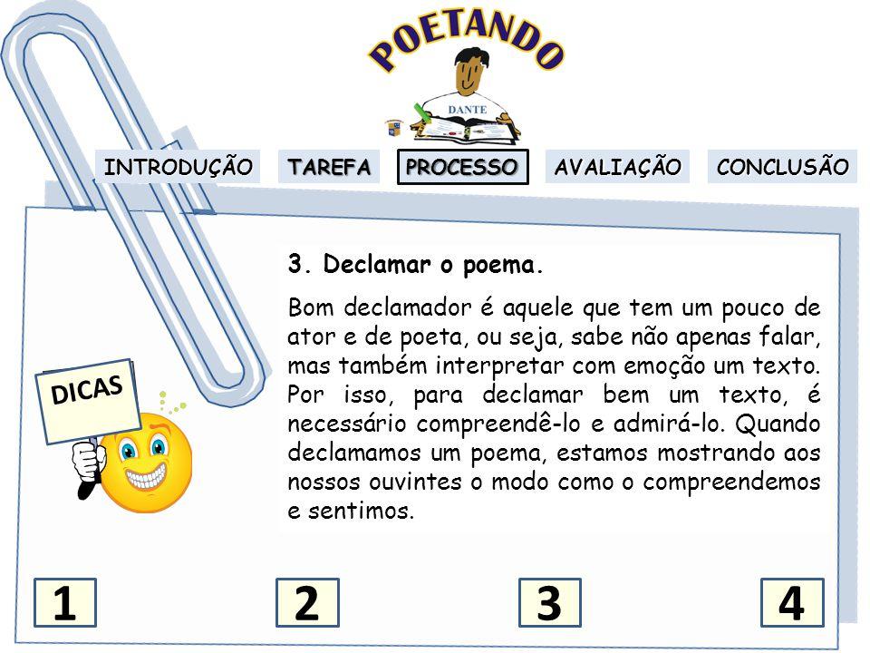 INTRODUÇÃO TAREFA PROCESSO AVALIAÇÃO CONCLUSÃO 4.