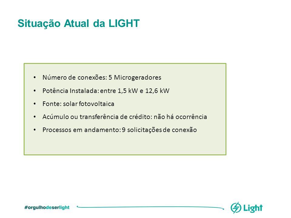 Número de conexões: 5 Microgeradores Potência Instalada: entre 1,5 kW e 12,6 kW Fonte: solar fotovoltaica Acúmulo ou transferência de crédito: não há