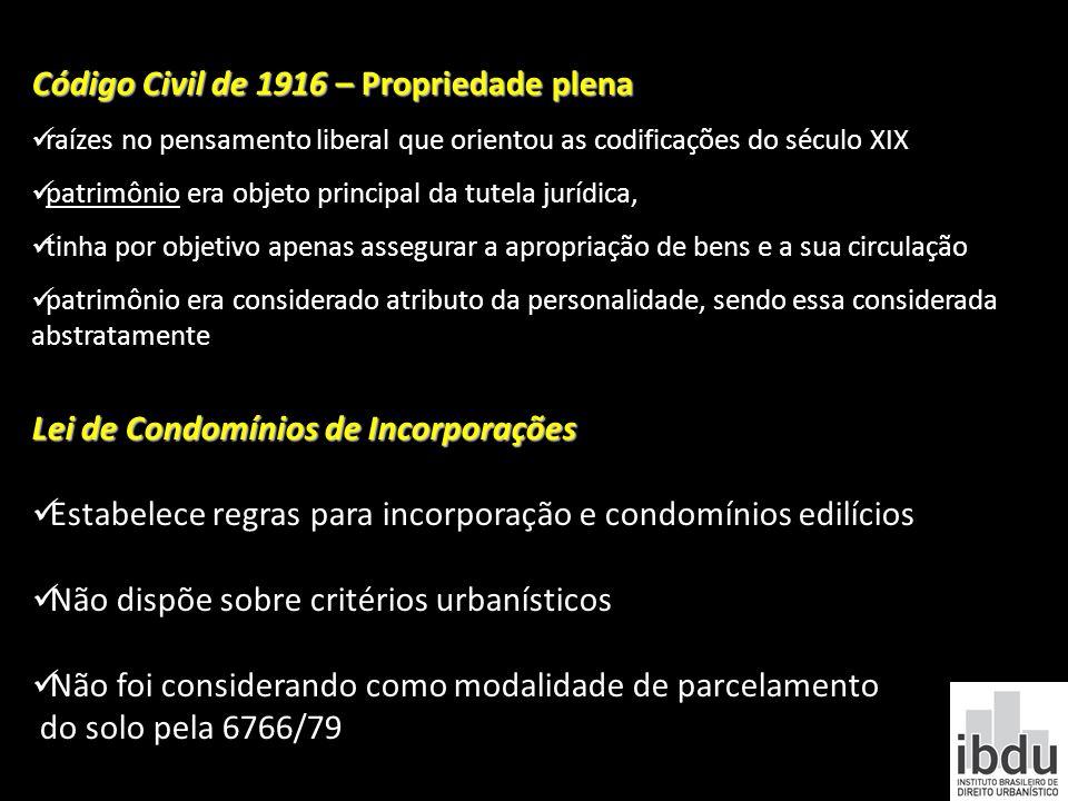 Código Civil de 1916 – Propriedade plena raízes no pensamento liberal que orientou as codificações do século XIX patrimônio era objeto principal da tu