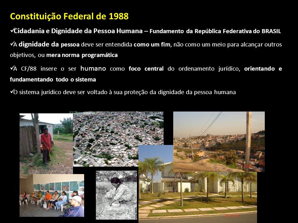 Constituição Federal de 1988 Cidadania e Dignidade da Pessoa Humana – Cidadania e Dignidade da Pessoa Humana – Fundamento da República Federativa do B