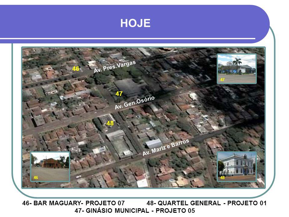 43 45 42 44 42- ZENKNER - PROJETO 07 44 e 45- ESTAÇÃO FERROVIÁRIA – PROJETOS 1,4 e 5 43- FENAME - PROJETO 02 4243 4445 HOJE Rua Pinheiro Machado Rua D