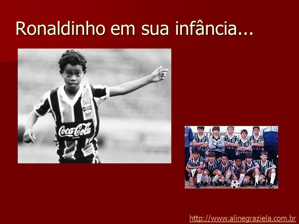 Ronaldinho em sua infância... http://www.alinegraziela.com.br