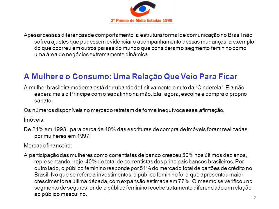 47 Monografia de autoria de Ana Lúcia Fugulin Ache DPZ Propaganda S.A para II Prêmio Estadão de Mídia 1999 Tema: Mídia Mix Sexo Frágil, Bolso Forte