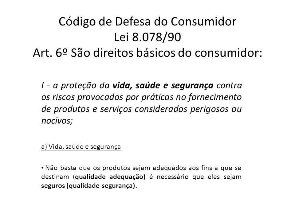 Código de Defesa do Consumidor Lei 8.078/90 Art.