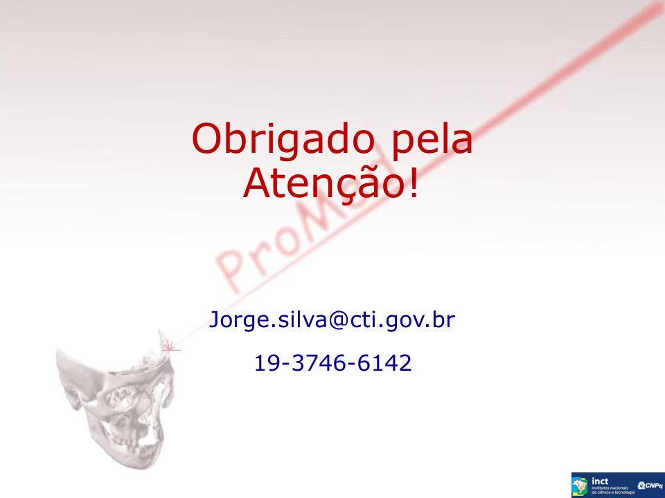 Obrigado pela Atenção! Jorge.silva@cti.gov.br 19-3746-6142