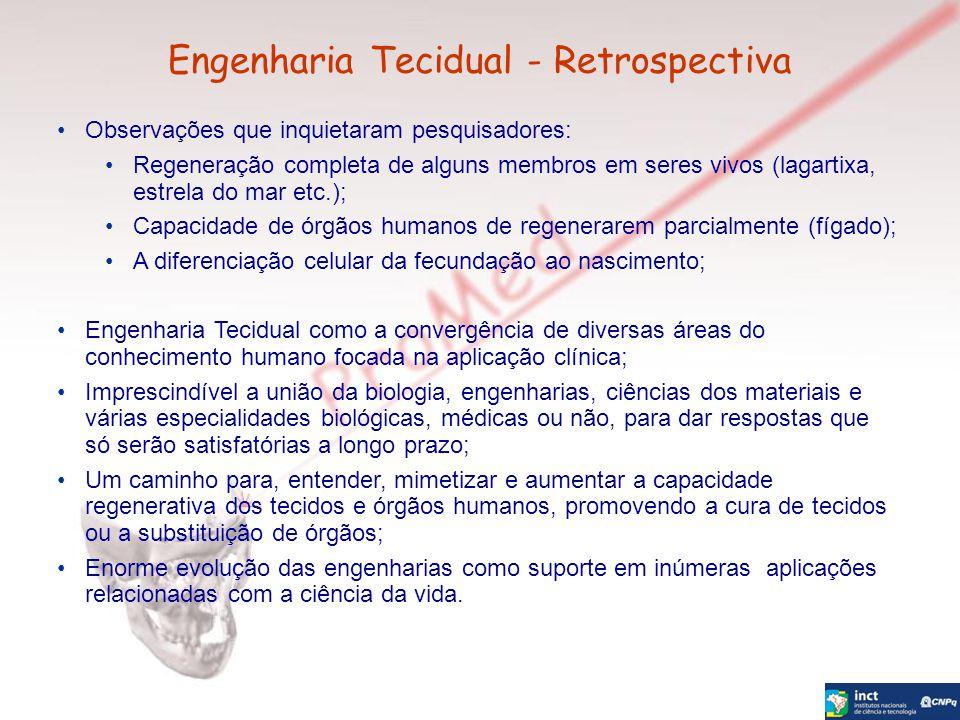 Engenharia Tecidual - Retrospectiva Observações que inquietaram pesquisadores: Regeneração completa de alguns membros em seres vivos (lagartixa, estre