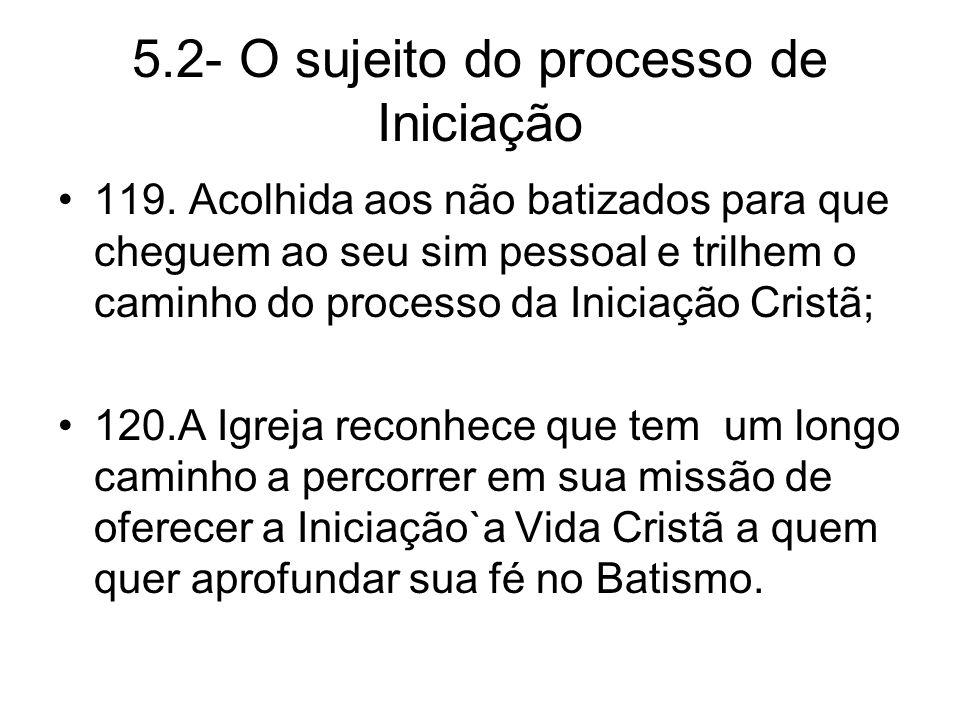 5.2- O sujeito do processo de Iniciação 119.