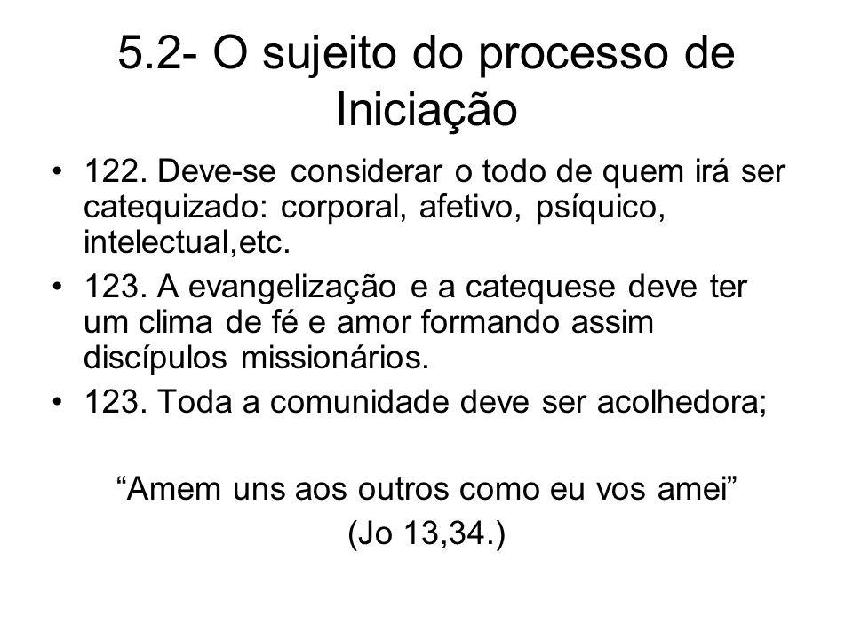 5.2- O sujeito do processo de Iniciação 122.