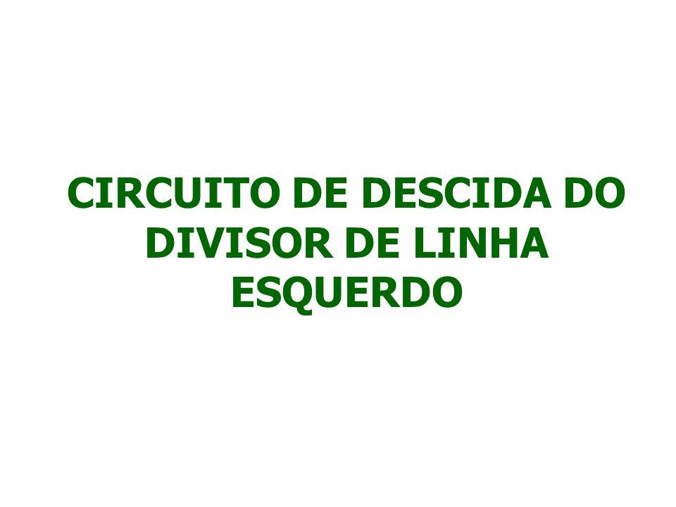 PARA ABAIXAR O DIVISOR DE LINHA ESQUERDO, PRESSIONE O BOTÃO Nº 4 NA PARTE DA FRENTE DO JOYSTICK.