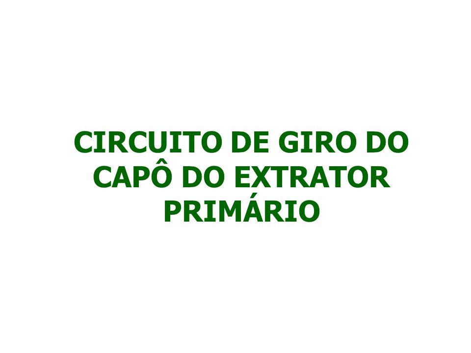 PARA GIRAR O CAPÔ DO EXTRATOR PRIMÁRIO, PRESSIONE O INTERRUPTOR LOCALIZADO NO CONSOLE.
