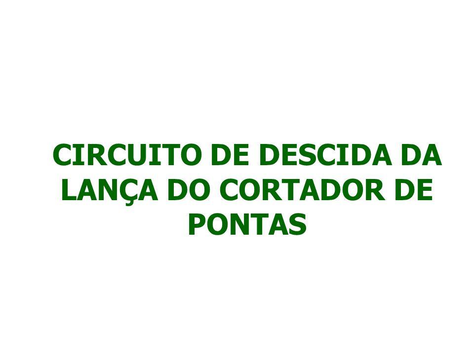 PARA ABAIXAR O CORTADOR DE PONTAS, PRESSIONE O BOTÃO Nº 8 LOCALIZADO NA FACE FRONTAL DO JOYSTICK.