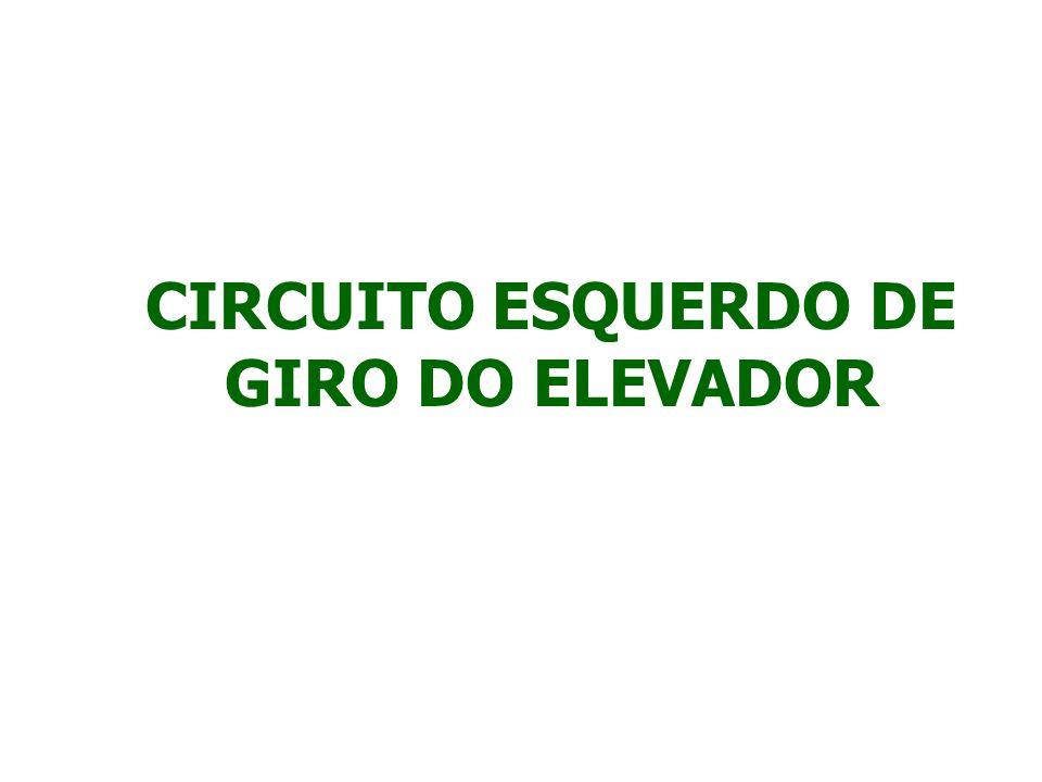 PARA GIRAR O ELEVADOR PARA ESQUERDA, PRESSIONE O PEDAL DE CONTROLE ESQUERDO.
