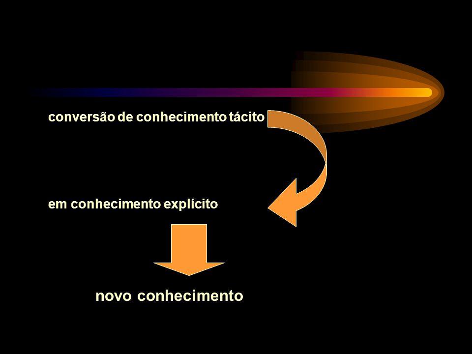 conversão de conhecimento tácito em conhecimento explícito novo conhecimento