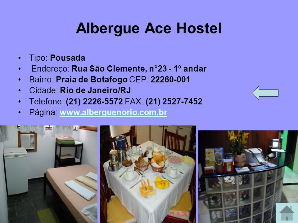 ELMISTI HOSTEL/POUSADA COPACABANA ELMISTI HOSTEL/POUSADA COPACABANA! Brasil: (21) 2547 0800 / (21) 254 77 265 Copacabana - Rio de Janeiro - Brasil