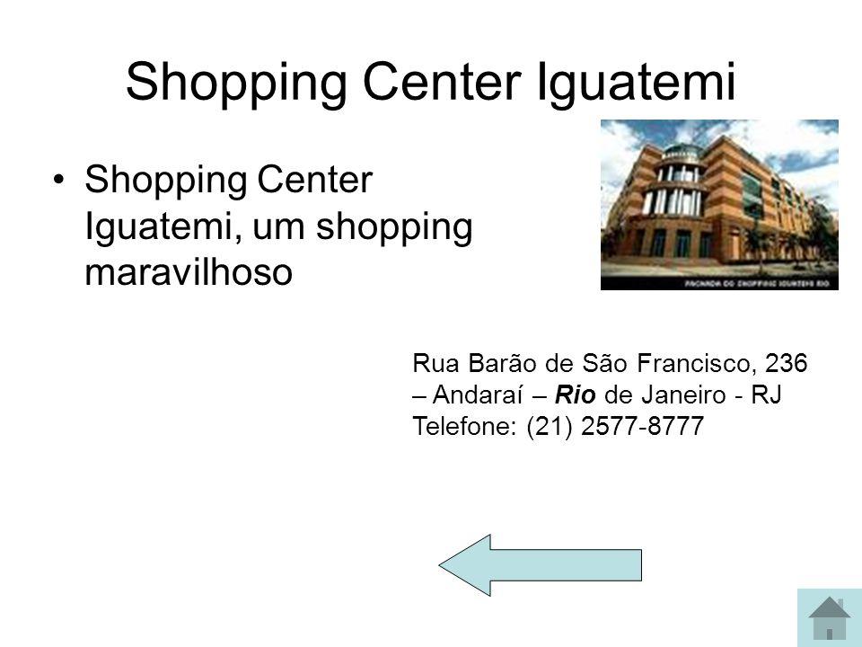 Botafogo praia Shopping Praia de Botafogo 400 Rio de Janeiro CEP 22250-040 Telefone: [21] 3171 9559 Lojas Segunda a sábado: 10:00 às 22:00 h Domingos